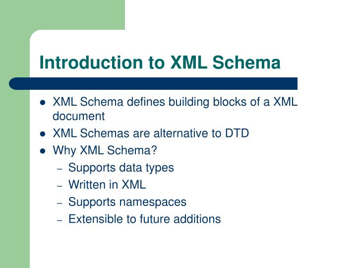 Introduction to XML Schema