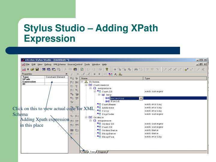 Click on this to view actual code for XML Schema