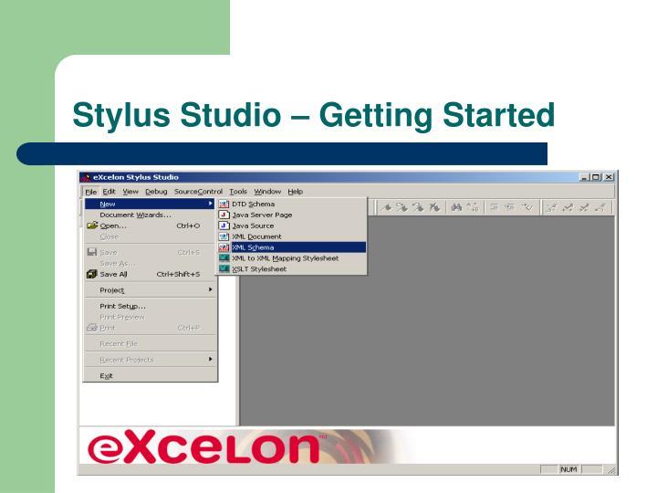 Stylus Studio – Getting Started