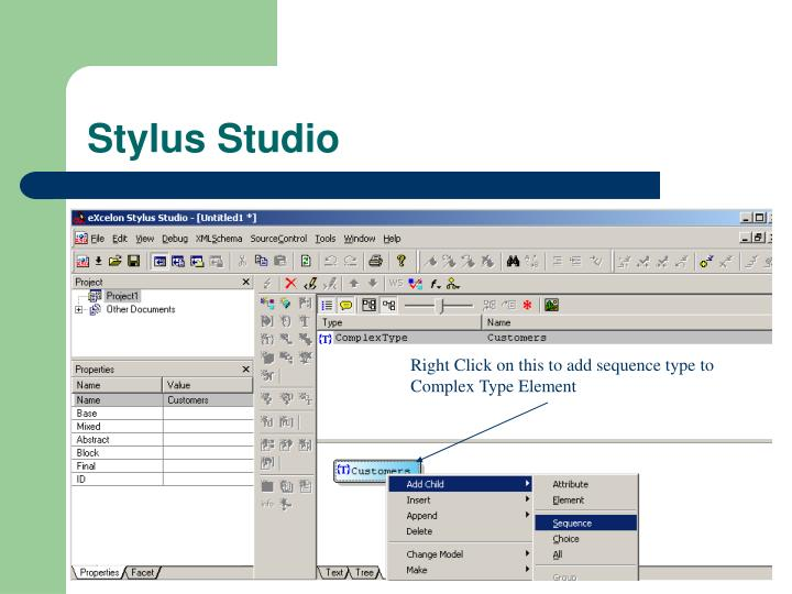 Right Click on this to add sequence type to Complex Type Element