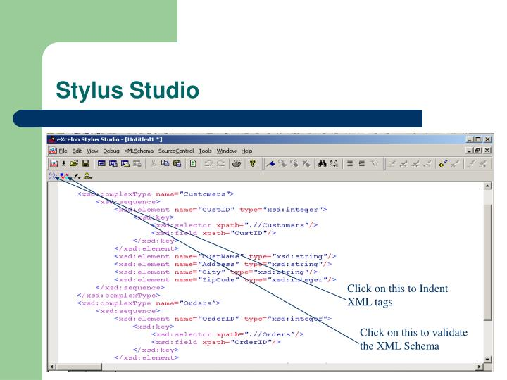 Click on this to Indent  XML tags