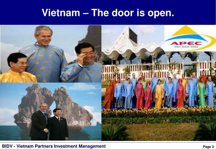 Vietnam – The door is open.