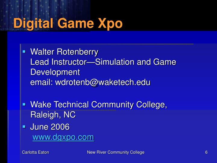 Digital Game Xpo