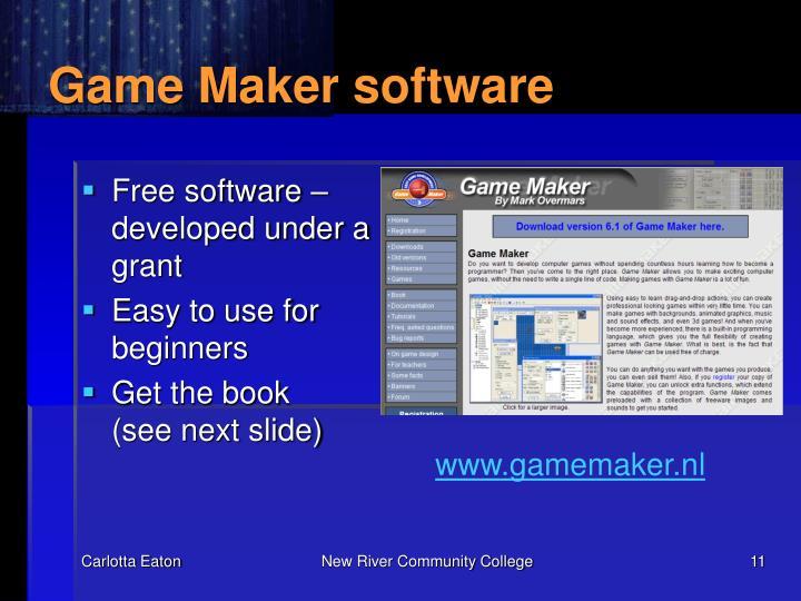 Game Maker software