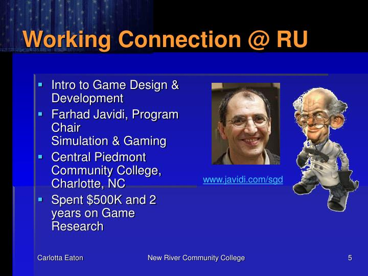 Working Connection @ RU