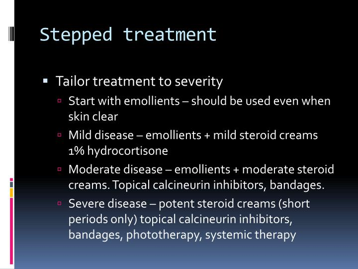 Stepped treatment