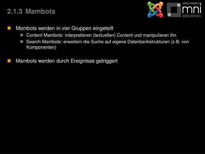 2.1.3Mambots