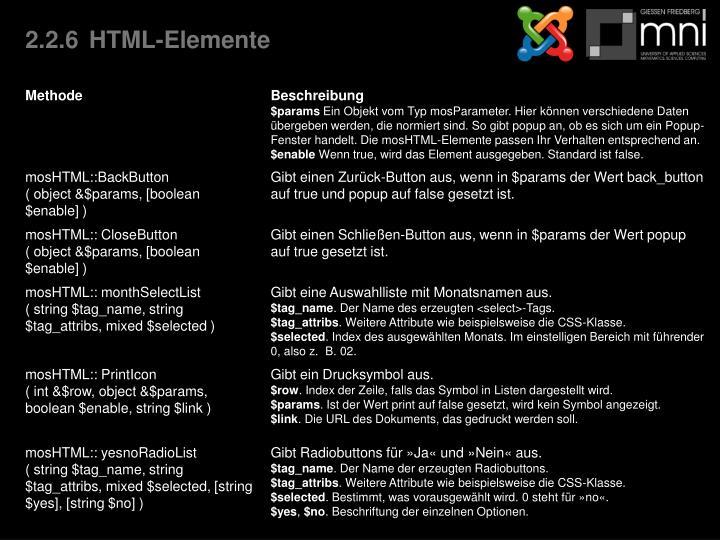 2.2.6HTML-Elemente