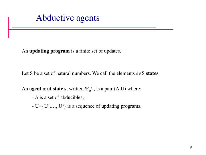 Abductive agents