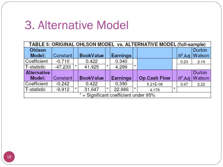 3. Alternative Model
