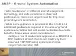 ansp ground system automation