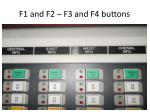 f1 and f2 f3 and f4 buttons