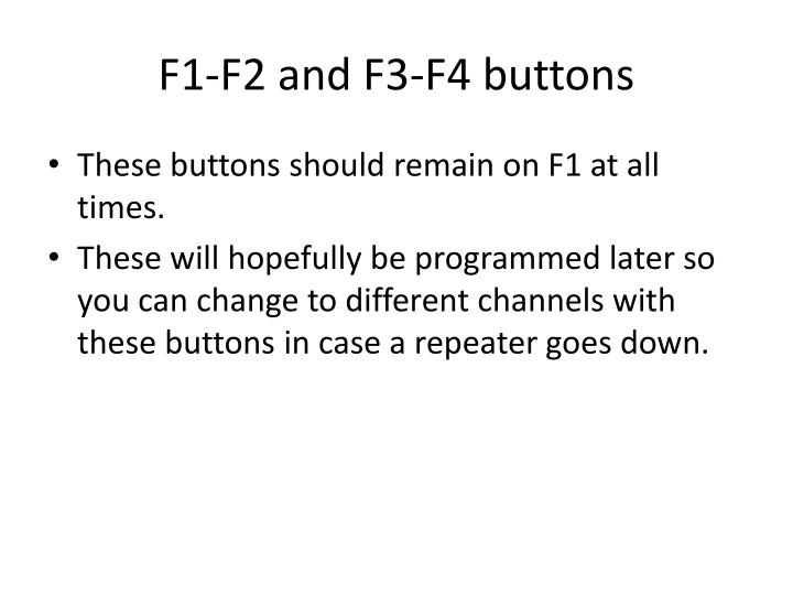 F1-F2 and F3-F4 buttons