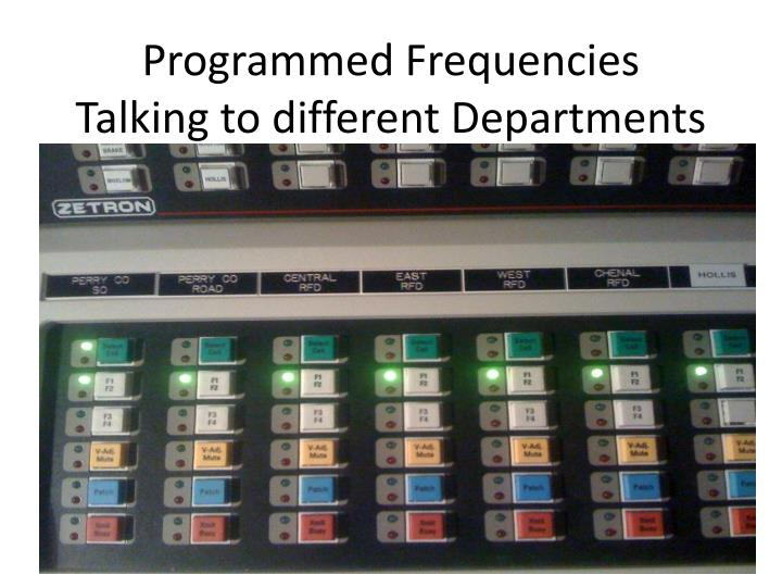 Programmed Frequencies