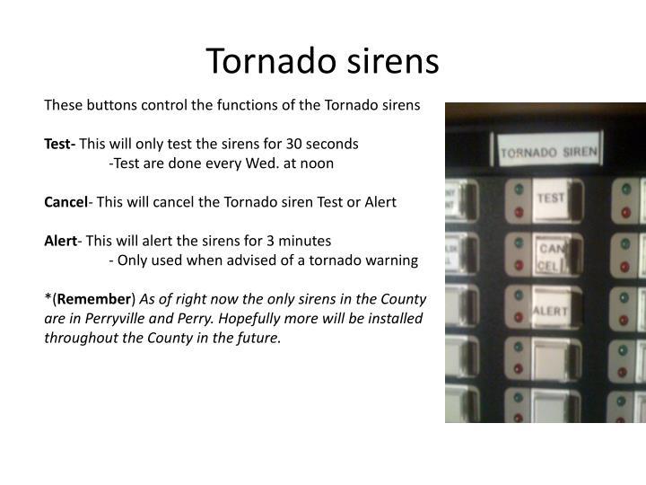 Tornado sirens