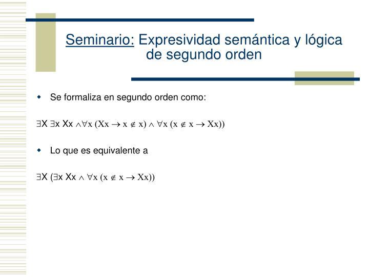 Seminario: