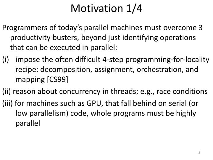 Motivation 1/4