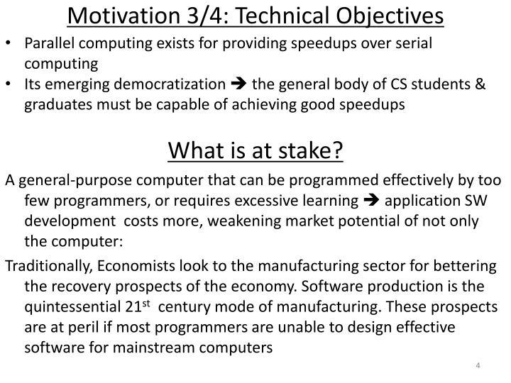 Motivation 3/4: Technical Objectives