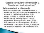 espacio curricular de orientaci n y tutor a acci n institucional2