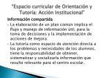 espacio curricular de orientaci n y tutor a acci n institucional3