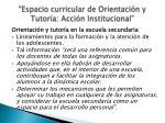 espacio curricular de orientaci n y tutor a acci n institucional4