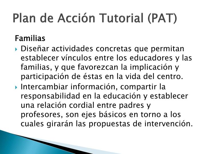 Plan de Acción Tutorial (PAT)