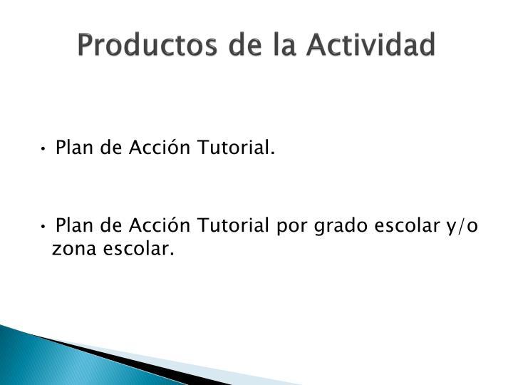 Productos de la Actividad