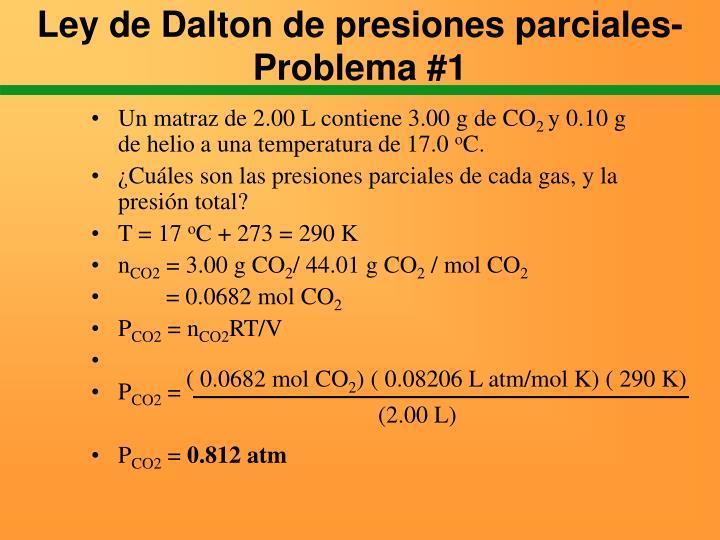Ley de Dalton de presiones parciales- Problema #1