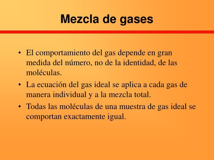 Mezcla de gases