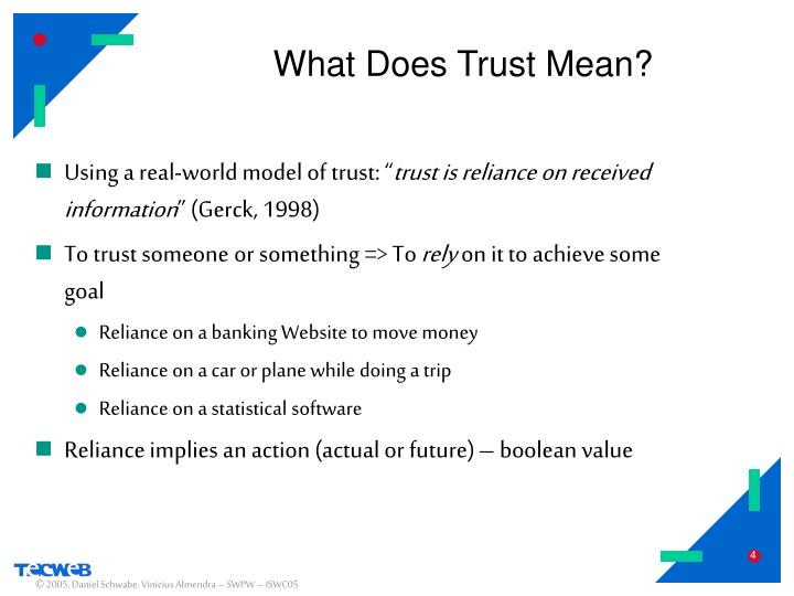 What Does Trust Mean?