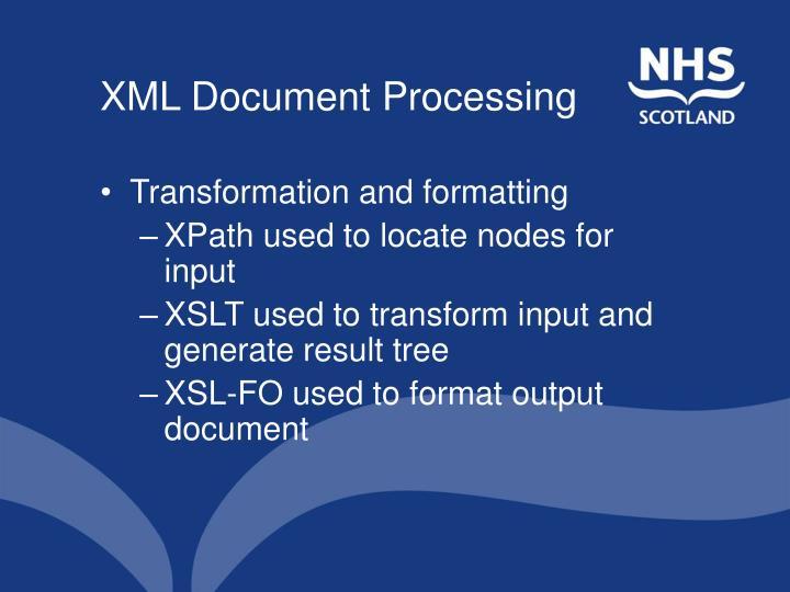 XML Document Processing