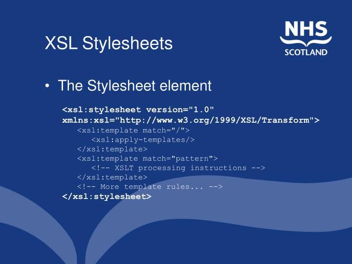 XSL Stylesheets