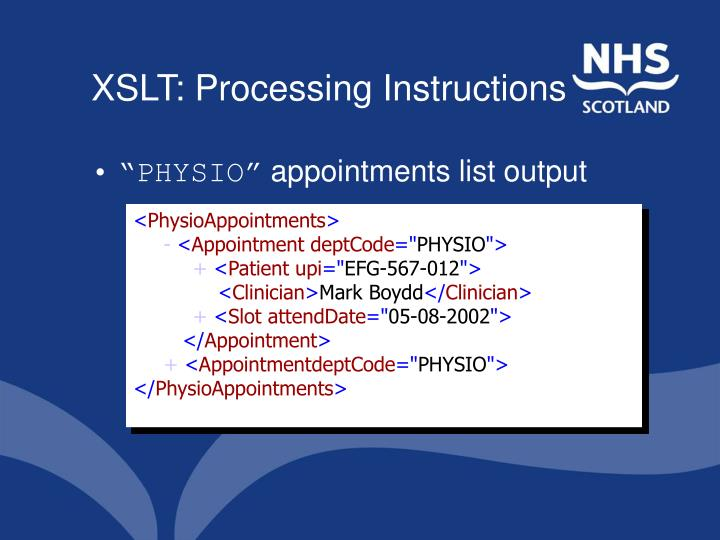 XSLT: Processing Instructions