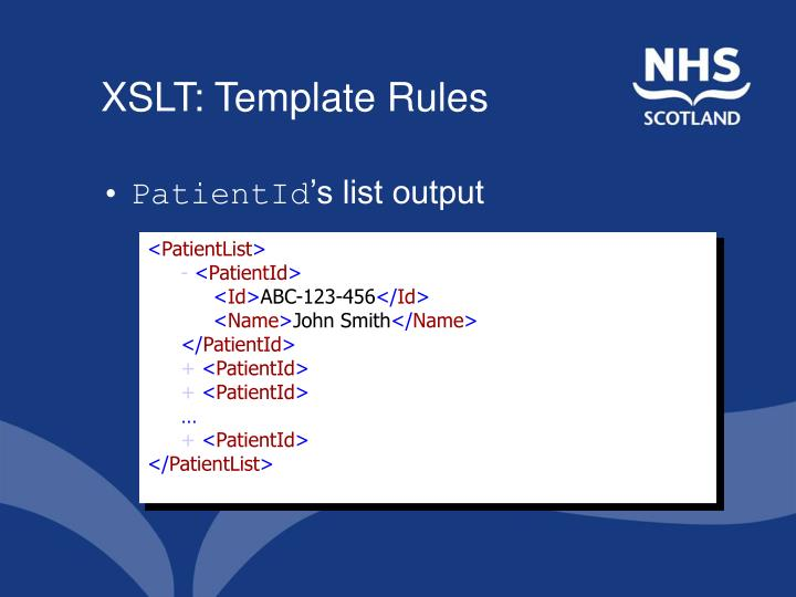 XSLT: Template Rules