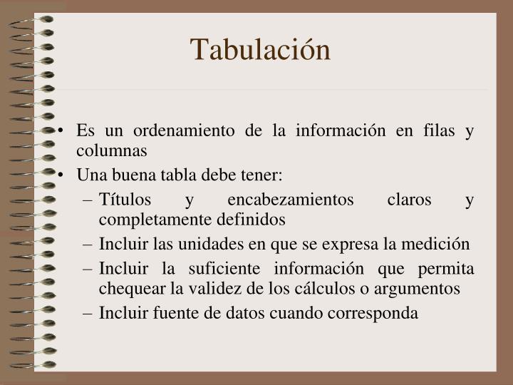 Tabulación