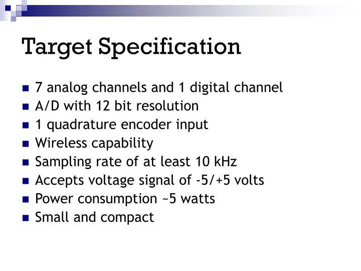Target Specification