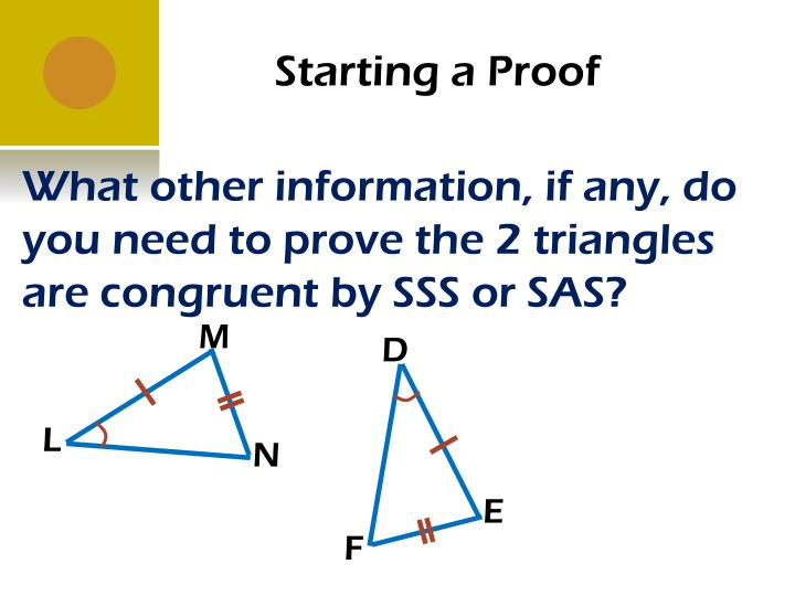 Starting a Proof