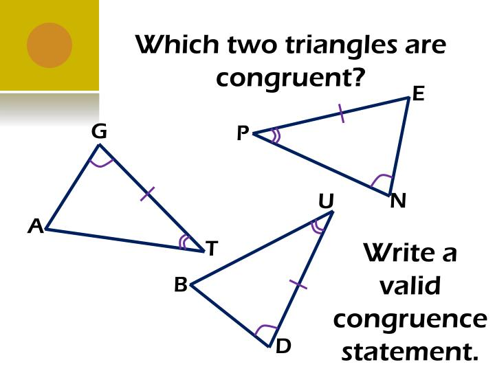 Which two triangles are congruent?