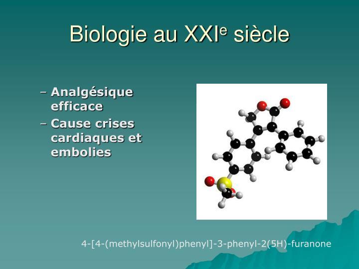 Biologie au XXI