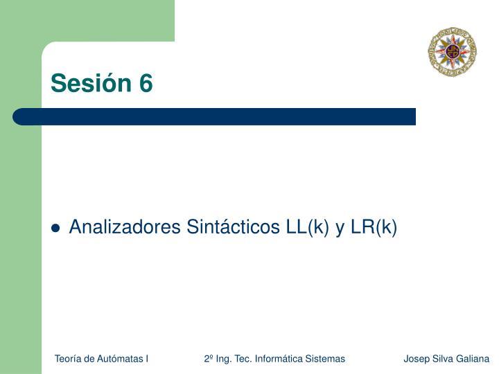 Sesión 6