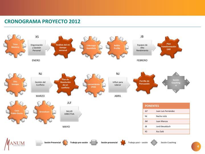 CRONOGRAMA PROYECTO 2012