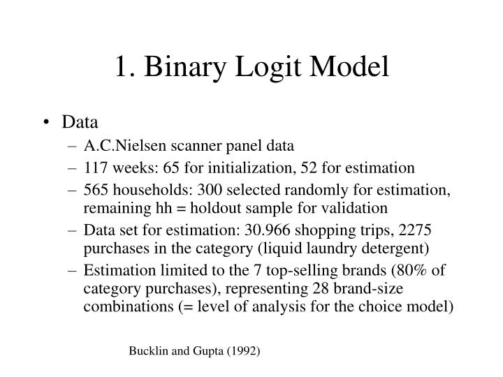 1. Binary Logit Model