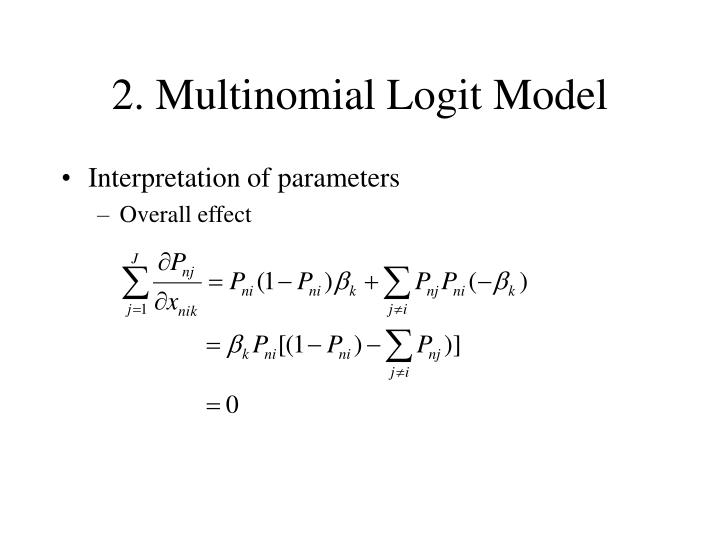 2. Multinomial Logit Model