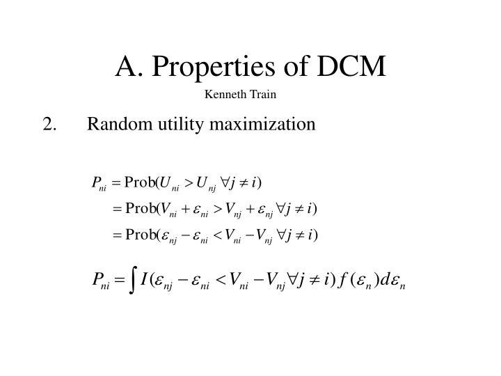 A. Properties of DCM