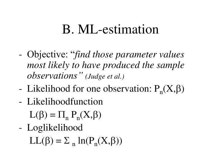 B. ML-estimation