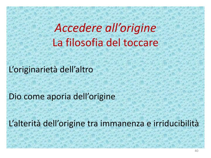 Accedere all'origine