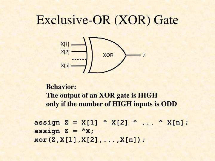 Exclusive-OR (XOR) Gate