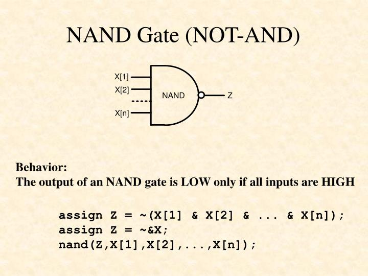 NAND Gate (NOT-AND)