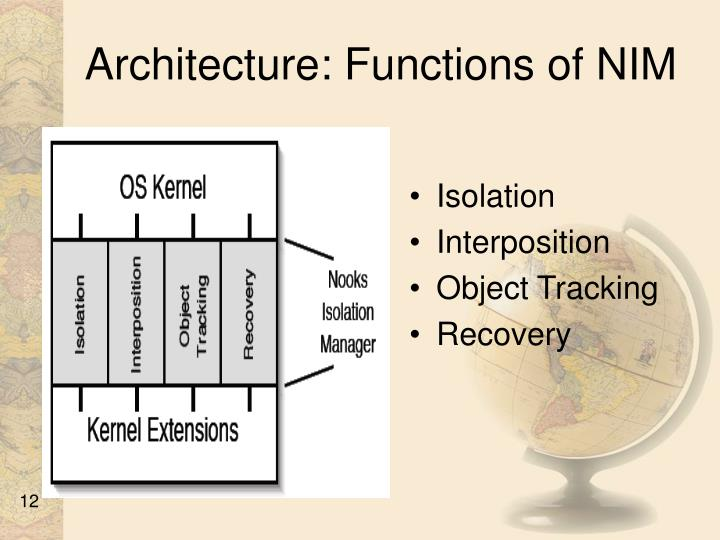 Architecture: Functions of NIM