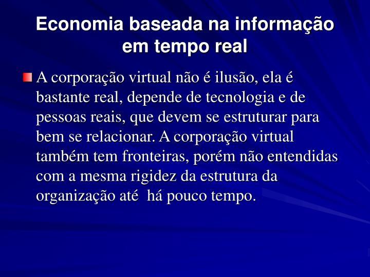Economia baseada na informação em tempo real